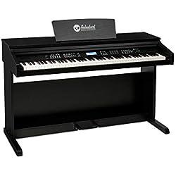 Schubert Subi 88 MK II Keyboard E-Piano piano numérique - 88 touches sensibles, 360 tonalités, 160 rythmes, 80 morceaux de démonstration, sortie ligne, entrée USB, MIDI IN/OUT et MIDI USB, noir