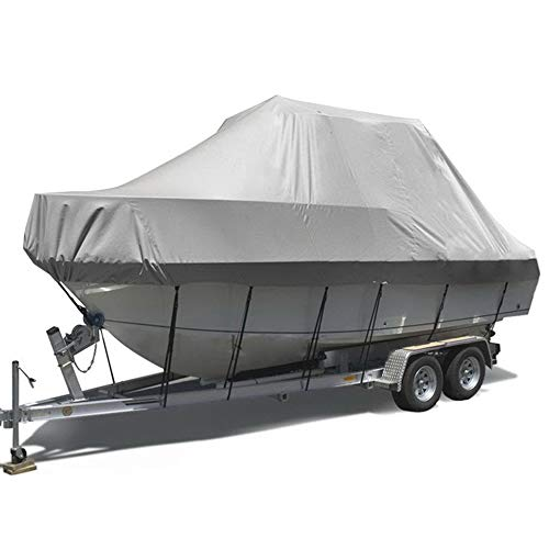 41j1AiKYH L. SS500  - RIYIFER Trailerable Runabout Boat Cover Heavy Duty 600D Marine Grade Polyester Oxford Cloth Boat Cover Shield Its Ski Pro-Style Bass Boats