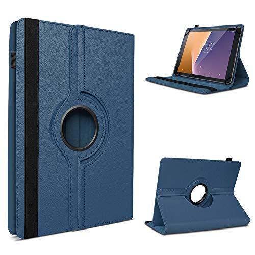 UC-Express Vodafone Tab Prime 6/7 robuste Tablet Schutz Hülle aus hochwertigem Kunstleder Tasche mit Standfunktion 360° drehbar Universal Cover Case kombiniert Schutz und Design, Farben:Blau