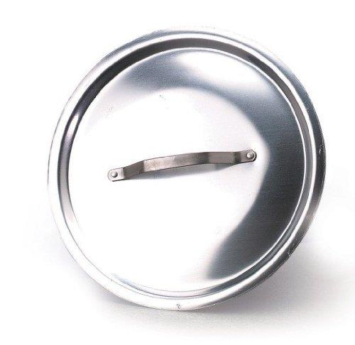 Pentole Agnelli ALMA12914 Alluminio Professionale 3 mm, Coperchio Rotondo Pesante con Ponticello, 14 cm