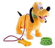 IMC Toys 181243 - Mickey Mouse Pluto Camminante Filoguidato con Suoni - Pluto filoguidato - Cammina ed emette suoni - Con ciotola per la pappa - Filo comando a forma di osso - La scatola contiene Pluto filoguidato, telecomando a forma di osso...