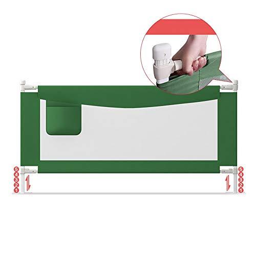 Barrières MAHZONG Hauteur réglable 90cm de déflecteur Vertical de lit de lit au Chevet d'enfant de de Levage Verticale (Couleur : Green, Taille : L-180cm)