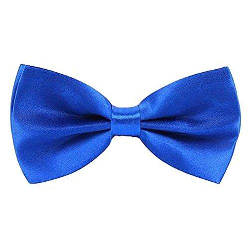 Männer Einstellbare seidenmatt glänzende Königsblaue Fliege(Royal Blue Bowtie) - Royal Blue Bowties