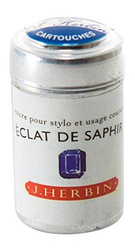 J Hebrin Cartucce d'inchiostro, per scrittura eclat de saphir (confezione da 6)