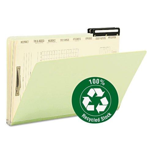 Pressspan Hypothek Datei Ordner mit Teiler & Metall Tab, Legal, Green, 10/Box, verkauft als je 10 (Receipts Datei-ordner)