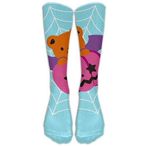 Girls Classics One Size Warm Winter Knee High Socks Halloween Party Cute Pumpkin Bear Men 1 Pair Long Tube Stockings for Athletic Soccer