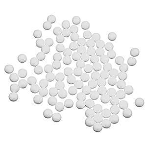 Blanc 100pcs Balles en Mousse de Polystyr/ène Jouet Educatif DIY Artisanal De Mod/élisation et D/écoration