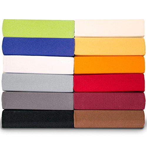 aqua-textil Spannbettlaken rund Wasserbett & Boxspringbett Ø ca. 245 cm Jersey Mako-Baumwolle Elastan Royal Bettlaken 0011438 schwarz