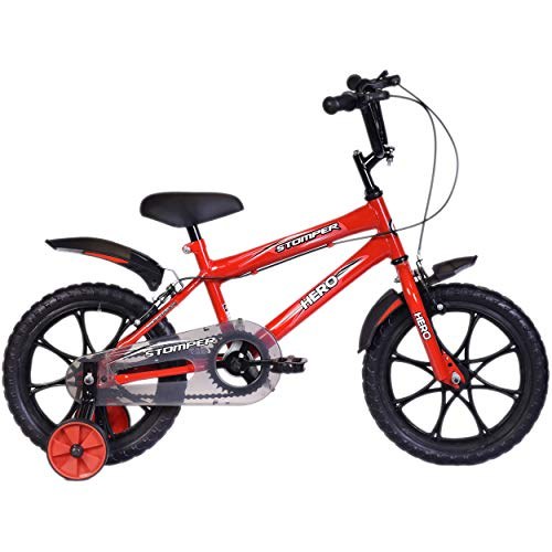 Hero Stomper 16T Steel Single Speed Junior Cycle, 12 Inch (Red)