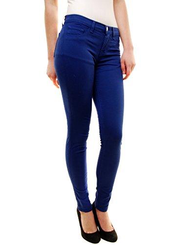 J Brand Femmess Indio Bleu Mi-hauteur Maigre Leg Jeans Bleu