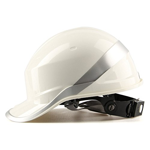 ChaRLes Diamond V Hard Hats Sicherheitsarbeit 8 Punkt Vented Construction Ratchet Helme Neu - Weiß
