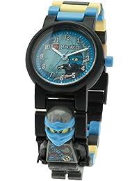 LEGO Ninjago 8020912 Hands of Time Nya Kinder-Wecker mit Minifigur und Hintergrundbeleuchtung|blau/schwarz|Kunststoff|24 cm hoch|LCD-Display|Junge/Mädchen|offiziell