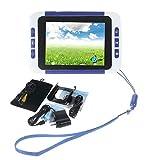 flower205 Digital Video Magnifier 32 Mal 3.5 Zoll Handportable Mobile Elektronische Lesehilfe Leselupen für sehbehinderte, Senioren, Makuladegeneration, Menschen mit hoher Kurzsichtigkeit. (schwarz)