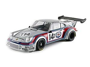 Norev-187426-Porsche 911RSR Turbo 2.1-Test SPA 1974-Escala 1/18-Plata/Rojo/Azul