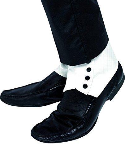 ngster Bugsy Malone Great Gatsby Weiß& Schwarz Kostüm Zubehör Gamaschen (Great Gatsby Herren Kostüme)