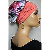 Beanie Mütze Ballonmütze Satin Sommerlich bunt Blumen mit Band little things in life Chemo Cap Hat Chemomütze Mütze bei Krebs Kopfbedeckung Turban