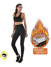 b6a28e2914 NHEIMA Legging Anti Cellulite, Pantalon de Sudation, Legging Femmes Taille  Haute avec Nanotechnologie pour