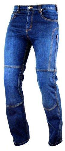 A-pro motor bike denim jeans pants kèvlar lined trousers motor bike ce arm ours blue 38