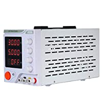 Honeytecs DC Regulated Power Supply Switching Power 4 Digits Display LED 0-30V 0-5A High Precision Adjustable Mini Power Supply DC Power Supply