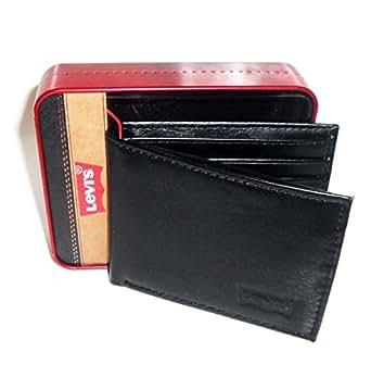 Levis - Portefeuille homme cuir noir en coffret - modele 31LP2209