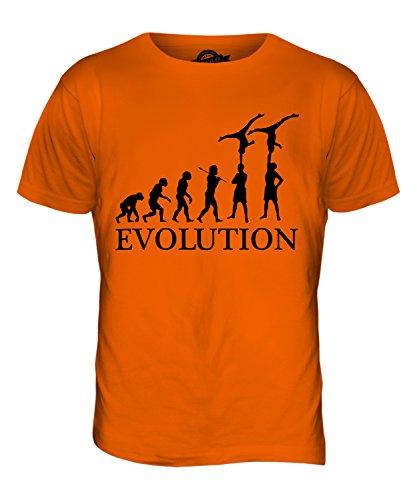 CandyMix Gruppengymnastik Evolution Des Menschen Herren T Shirt Orange