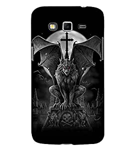 HiFi Designer Phone Back Case Cover Samsung Galaxy J2 J200G (2015) :: Samsung Galaxy J2 Duos (2015) :: Samsung Galaxy J2 J200F J200Y J200H J200Gu ( Demon Vampire in Full moon )
