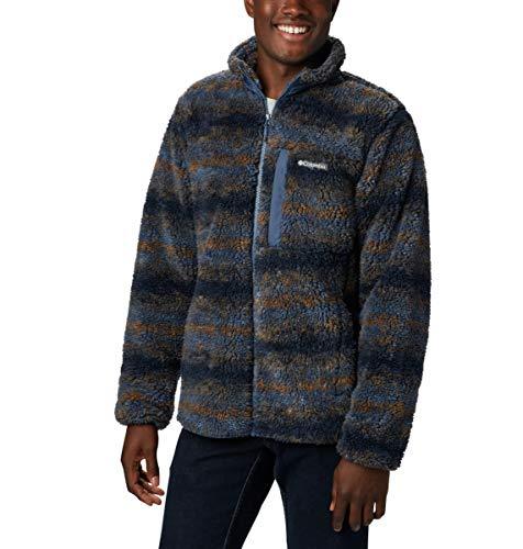 Columbia Men's Winter Pass Print Fleece Full Zip, Dark Mountain Blanket Print, X-Large -