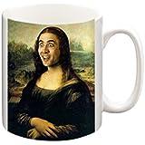 Nicolas Cage as Mona Lisa Funny Mug, Coffee Mug, Tea Cup, Tea Mug