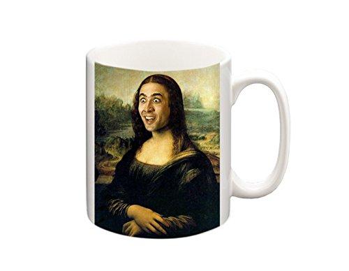 Nicolas Cage as Mona Lisa Funny Mug