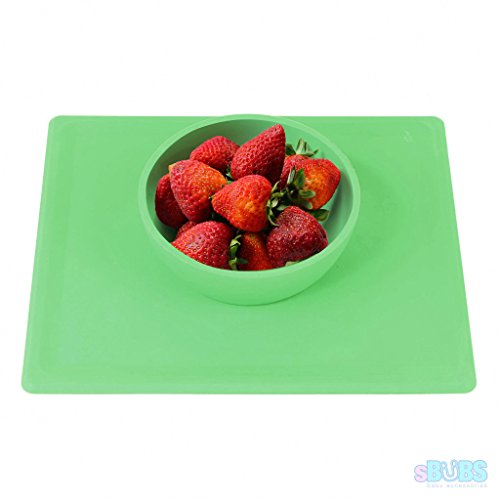 baby-feeding-bowl-silicone-placemat-dishwasher-safe-weaning-bowls-non-slip-bpa-and-toxin-free-green