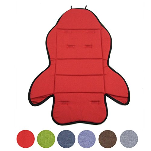BambiniWelt24 BAMBINIWELT Ersatzbezug, Sitzkissen, Bezug für Fahrradsitz, Modell RÖMER Jockey (Modell 3, meliert) (rot meliert)