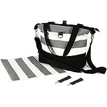 Bolso Cambiador Compacto de Diseño para Mamas - Incluye Cambiador Impermeable y Asas para Carrito