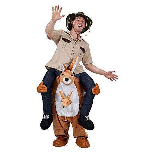Unisex Herren Damen Carry Me Känguru Kostüm für Maskottchen Fancy Kleid (Känguru Maskottchen Kostüme)