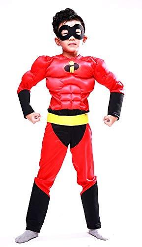 Lovelegis taglia m (7-8 anni) costume incredibili per bambino busto muscoloso - tuta - cintura - maschera - travestimento carnevale halloween cosplay