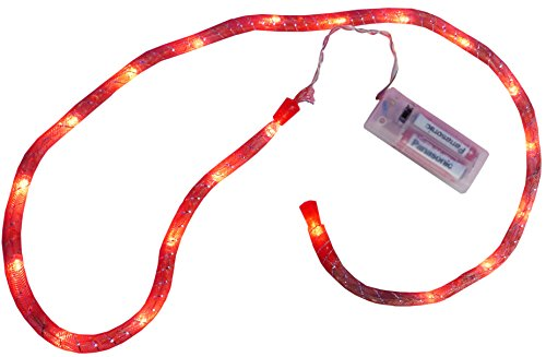Christmas Concepts® 1M- 20 Red Led Netz Ropelight -Batterie Operated-Startseite oder Weihnachtsbeleuchtung
