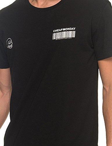 Cheap Monday Herren T-Shirts Standard Tee Barcode Schwarz