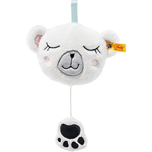 Steiff 241321 Soft Cuddly Friends Iggy Eisbär Spieluhr Plüsch weiß/bunt 13 CM