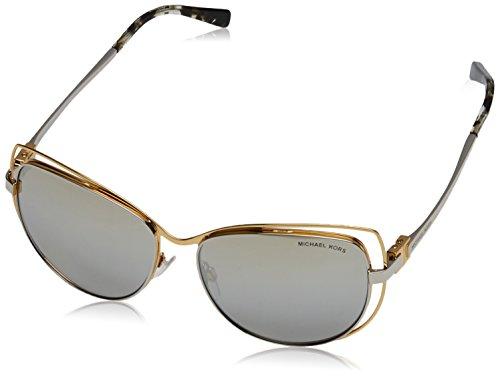 Michael Kors Damen AUDRINA I 11196V 58 Sonnenbrille, Gold/Silvermirror,