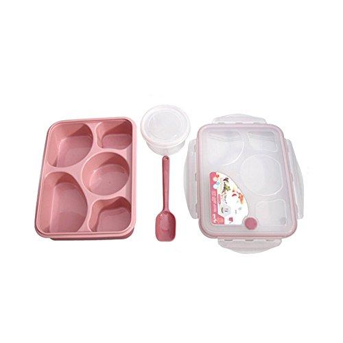 Kinder Bento Lunch Box Tiefziehteil 5-fach Lebensmittel Container Mikrowelle multi-com...