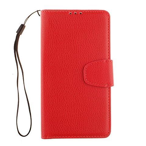 PU Leder rot Schutzhülle für LGLBello(D331,D335)/LGLPrime(D337) case Wallet Schale Tasche