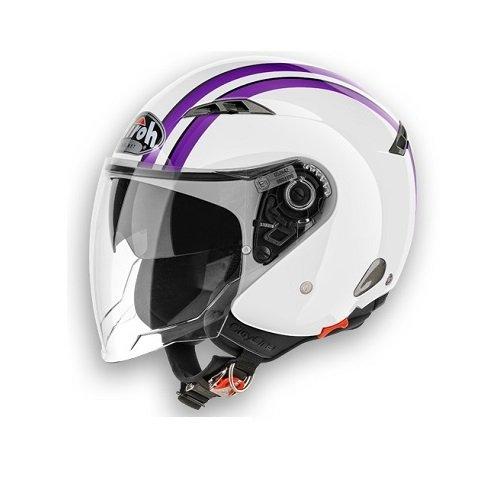 Airoh City One Style - Casco para moto, color blanco brillante XL Bianco