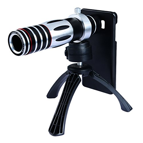 Apexel 5X-15X Optical Zoom Manual Focus Telephoto Telescope Camera Phone Lens with Tripod Holder/ Hard Cover Case for Samsung Galaxy Note 5