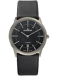 Dugena Herren-Armbanduhr Modena - Titanuhren Analog Quarz Leder 4460338