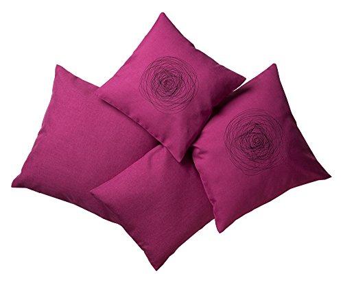 Kissenhülle Kissenbezug Dekokissenhülle mit und ohne Stickerei in zwei Größen brombeere (50x50 cm, brombeere) -