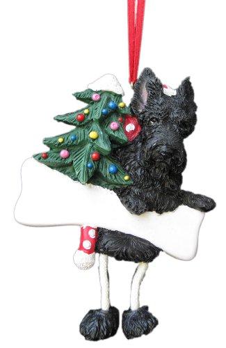 E&S Pets Scottish Terrier Ornament mit Einzigartige Schlenkerbeinen Handbemalt und leicht Persönliche Weihnachten Ornament -