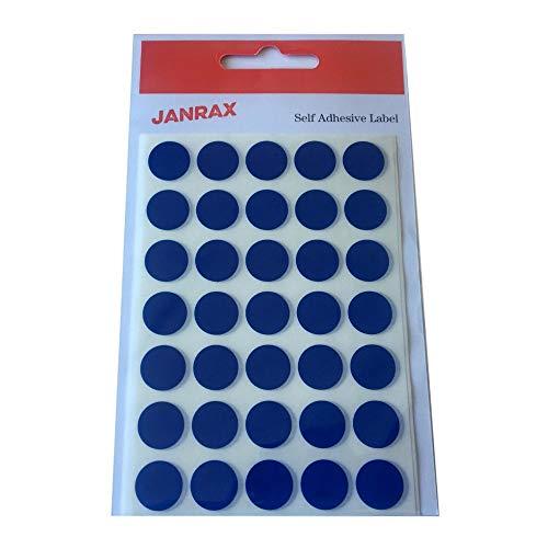 Lot de 140 Autocollant Bleu 13 mm rondes étiquettes - Stickers