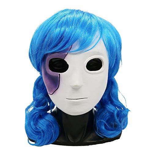 ZQDL Halloween Masken Set Sally Face Verspielte Gesichtsfrisur + Zweiteilige Make-up-Party-Maske für Rollenspiele