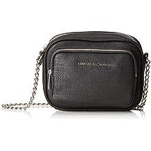 3985c91b06 Armani Exchange - Small Cross Body Bag, Bolsos bandolera Mujer, Negro (Nero)
