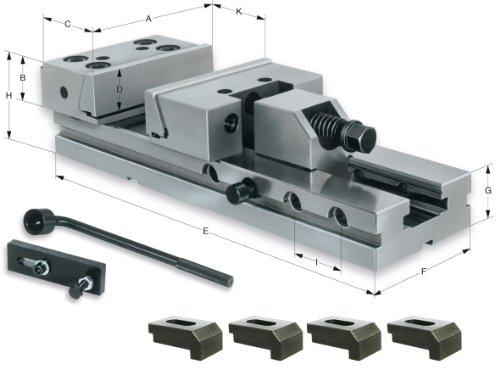 RÖHM 161825 Maschinenschraubstock MSR 175 SPW aus legiertem Stahl, gehärtet, 400 mm