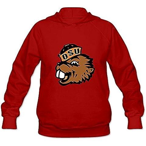 Lady Funny Slim Fit NCAA Oregon State Beavers Logo Long Sleeve Sweater XXXX-L